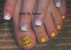 Smileys hand painted & embedded fimo