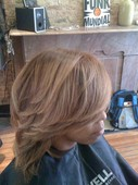 Color correction on Natural textured hair. (no relaxer)