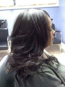 Client after Full Weave w/Closure Installed