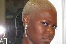 women's hair cut and color