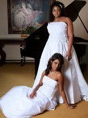 Bride and Jr Bride for cover of a upcoming Magazine.. Hair and makeup by me!