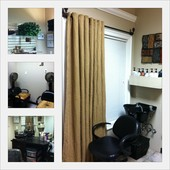 View of private salon suite, where I work solo.