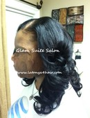 Sew-in weave using virgin hair supplied by Glam Suite