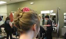 Slow day updo. I have a feeling that that's why we have a receptionist. ;)