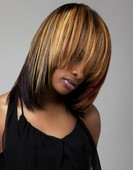 Don't be afraid of Hair color/ she is in transition from relaxer to natural