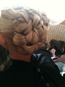 My friend Traci's hair for her wedding!