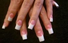 Pink & White Acrylic