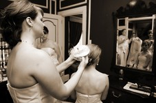 Doing my best friends hair for her wedding!