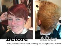 Fo Hawk Hair cut