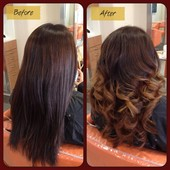 Before/After: Color / Glazing / Cut / Style #ombrehair #hair #hairbycindythongs #asianhair #curls #sandiego