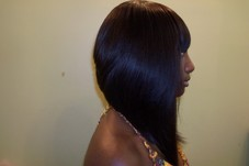 Sew in Bob with Bangs https://www.styleseat.com/Hairbossdiva