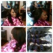 100% Brazilian Virgin Hair Deep Wave (Straightened) Sew In