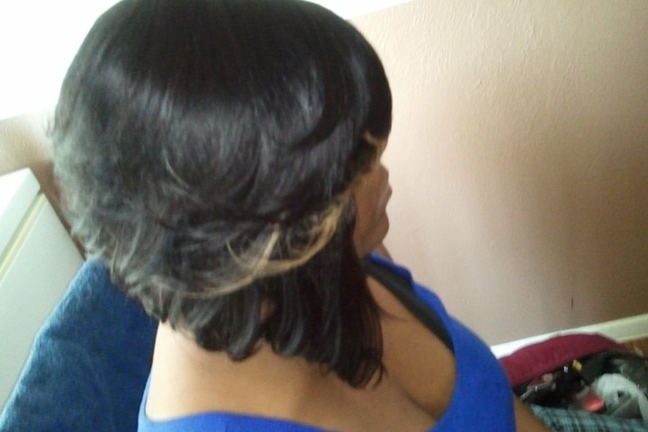 Feathered Bob Quick Weave Short Hairstyle 2013