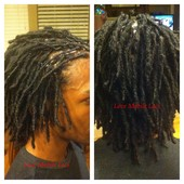 "So proud of Marcus! This is called, ""obedience""! His locs, 1yr later! ;)"