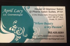 #356965 April Lacy's Appointment Photo taken in HOUSE OF GLAMOUR SALON & SPA, Ocala