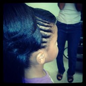 Flat twist into a pony with back out