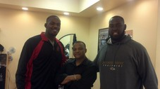 John Jones Light heavy Weight Champion Of the UFC (on left)  Art Jones #97  of the Baltimore Ravens (on right)