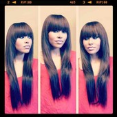 Full Sew-In Extensions w/ Layers & Fringed Bangs