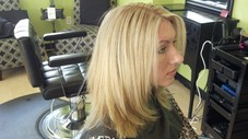 Brassy blonde wanted the gold gone! Beige blonde was her desired look, results were perfect!