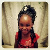 Kids' senegalese twists w/ curled ends