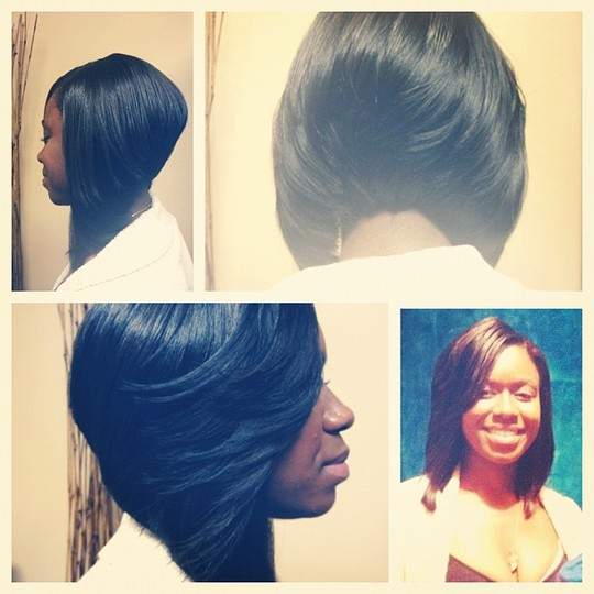 boho chic hairstyles : Feathered Bob Sew in Sew in Weave Bob Hairstyles