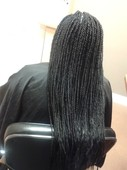 long Box Braids with straight ends