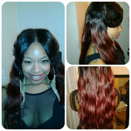 Sew In Weave With Chinese Bangs
