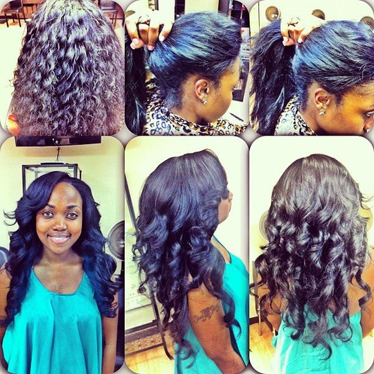 Curly Sew in Weave Hair