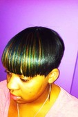 Peek-a-boo hilights on relaxed hair. fabulous