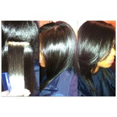 100% Natural (no relaxer), Silked & healthy!