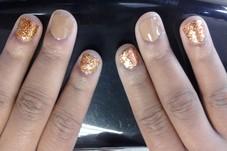 brown & glitter slide
