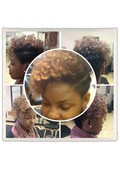 Natural Hair updo!