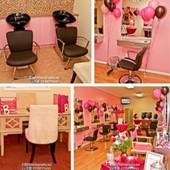 Barbie house salon