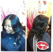 Fullhead (open) layered flip curls