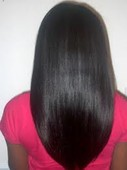 Brazilian Natural wave straightened. The hair is available in the salon