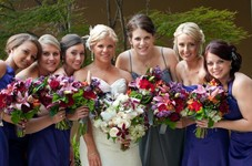 Hair for Bride and Bridesmaids, wedding 2012.