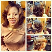 Natural, wash , blow dry with style