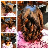 Natural, wash and blow dry with style