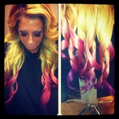 fun color and full head extensions