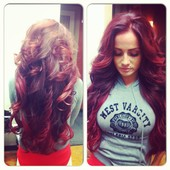 Custom color and full head extensions