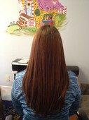 brazilian blowout! This photo was taken after 3 weeks!!!! wow!