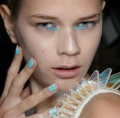Minx Nails I did while working London Fashion Week- David Koma designer