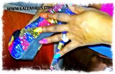 New hot 3d Glitter $10 each nail. Book now.