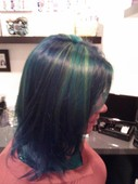 Kayla's mermaid hair!