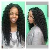 curly brazilian hair install