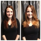 Janine wanted a Spring pick-me-up. We decided on a partial Balyage for the Ombre' look. Love it!