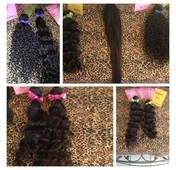Indian Wavy, Brazilain Wavy, & Malaysian Wavy! I also have them in Straight hair. 12-32 inches. Call for 3 bundle deals