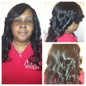 3 bundle full sew in hand made closure, barrel curls