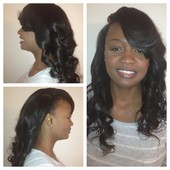 deep side part 2 bundle sew in barrel curls