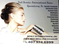 #712600 Desly International's Appointment Photo taken in Desly International Paul Mitchell Focus Salon, Orlando